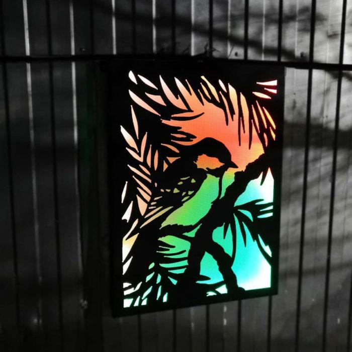 Картины из металла с подсветкой
