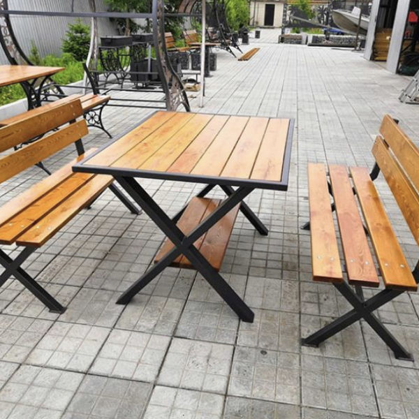 Комплект стол и скамьи Х